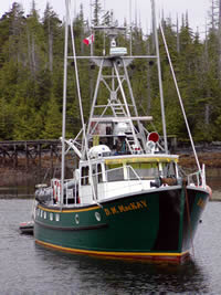 The first Coastal Messenger after being re-named back to D. M. McKay.
